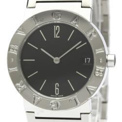 Bvlgari Black Stainless Steel Bvlgari Quartz Bb30Ssd Women's Wristwatch 30 MM