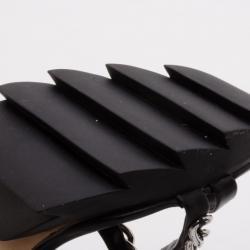Camilla Skovgaard Black Chain Embellished Sandals Size 37