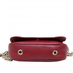 Carolina Herrera Red Leather New Baltazar Shoulder Bag