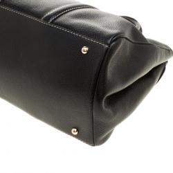 Carolina Herrera Black Leather Matteo Tote