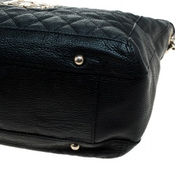 Carolina Herrera Black Quilted Leather Shoulder Bag