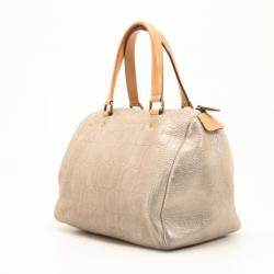 Carolina Herrera Metallic Andy Boston Bag