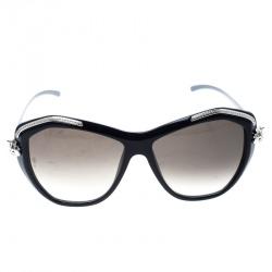 5b3fc21fb673 Cartier Dark Blue Brown Gradient Panthere De Cartier Sunglasses