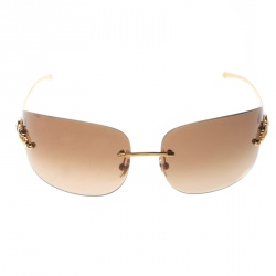 ff1304475587 Cartier Gold Brown Gradient Panthere de Cartier Rimless Sunglasses
