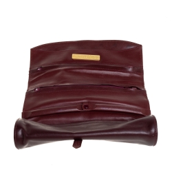 Cartier Burgundy Leather Jewelry Case