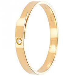 2749b6d3d59 Cartier Anniversary 0.1ct Diamond Yellow Gold Bangle Bracelet