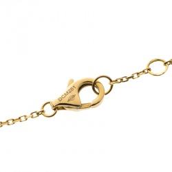 Cartier Amulette de Cartier Diamond Malachite 18k Rose Gold Bracelet 18cm