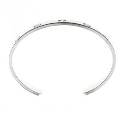 Cartier Love 1 Diamond White Gold Open Cuff Bracelet 17cm