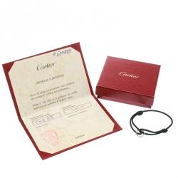 Cartier Trinity De Cartier Three Tone 18k Gold Black Adjustable Cord Bracelet