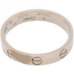 Cartier Love White Gold Ring Size 56