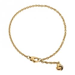 Cartier Love Knot Three Tone 18k Gold Dangling Charm Bracelet