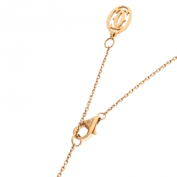 Cartier Twisted Heart 18k Rose Gold Pendant Necklace