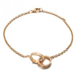 Cartier Love Rose Gold 2 Hoops Bracelet Size 18