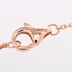Cartier Symbols Cross 18K Rose Gold And Diamonds Pendant Necklace