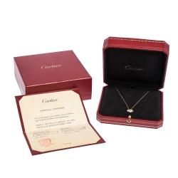 Cartier Amulette De Cartier Mother of Pearl & Diamond 18k Yellow Gold Necklace
