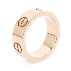 Cartier Love 18 K Yellow Gold Ring Size 47