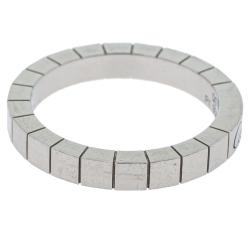 Cartier Lanieres Platinum Band Ring Size 56
