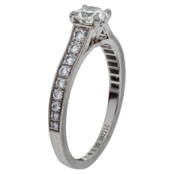 Cartier Solitaire 1895 0.50 ct Diamond Platinum Ring Size 52