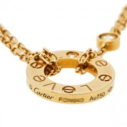 Cartier Love 2 Diamonds 18K Yellow Gold Necklace