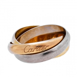 Cartier Trinity Classic 18K Three Tone Gold Ring Size 52