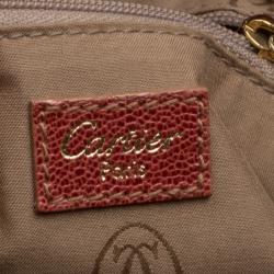 Cartier Red Leather Marcello de Cartier Tote