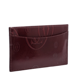 Cartier Red Patent Leather Happy Birthday Card Holder