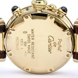 Cartier Grey 18K Yellow Gold Pasha Women's Wristwatch 35MM