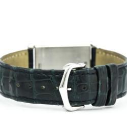 Cartier Silver Stainless Steel Tank Basculante Women's Wristwatch 24MM