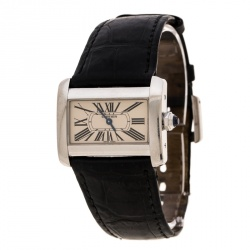 Cartier Cream Stainless Steel Tank Divan 2599 Women's Wristwatch 31 mm