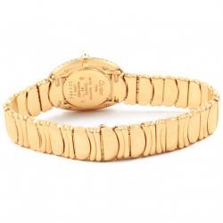 Cartier Silver 18K Yellow Gold Diamond Baignoire Joaillerie Women's Wristwatch 22.5MM