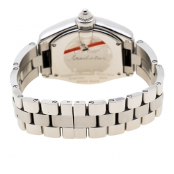 Cartier Silver Stainless Steel Roadster 2675 Women's Wristwatch 31 mm