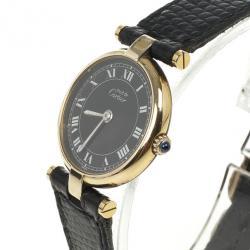 Cartier Gold Plated Womens Wristwatch 24 MM