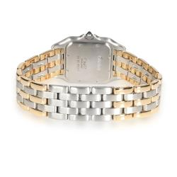 Cartier Silver 18K Yellow Gold And Stainless Steel Panthere 183949 Women's Wristwatch 27 MM