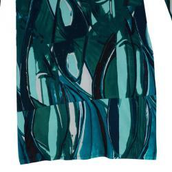Catherine Malandrino Printed Long Sleeve Dress M