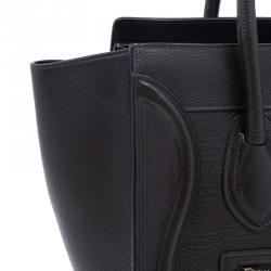 Celine Brown Leather Micro Luggage Tote