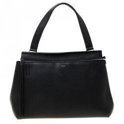 Celine Black Leather Medium Edge Bag
