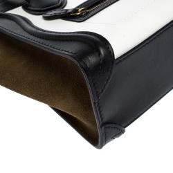 Celine Tri Color Leather and Suede Nano Luggage Tote