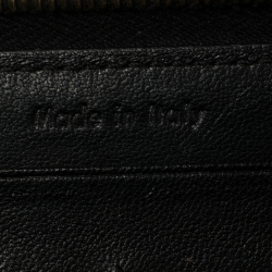 Celine Cream Patent Leather Zip Around Wallet