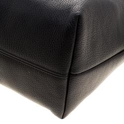 Cerruti 1881 Black Leather Cerrutis Chain Tote