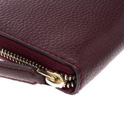 Cerruti 1881 Burgundy Leather Cerrutis Zip Around Wallet