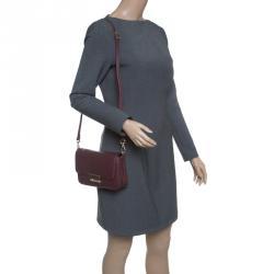 Cerruti 1881 Burgundy Leather Shoulder Bag