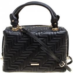 1f40e476913 Cerruti 1881 Black Monogram Leather Mayan Top Handle Bag