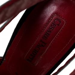 Cesare Paciotti Metallic Silver Leather Wave Cut Out Sandals Size 37