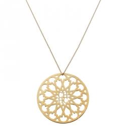 CH Carolina Herrera Gold Tone Medallion Pendant Necklace