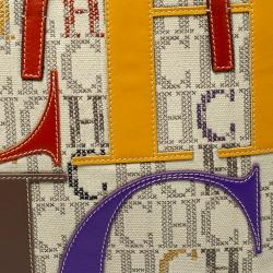 Carolina Herrera Multicolor Monogram Canvas and Leather Tote
