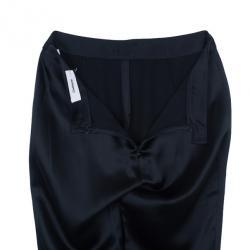 Chalayan Black Satin Slim Pants S