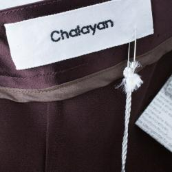 Chalayan Amaranth Satin Pants S