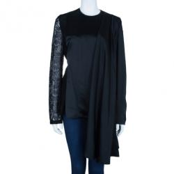 Chalayan Lace Sleeved Silk Robe Top M