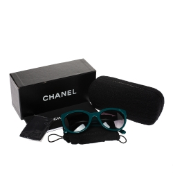 Chanel Dark Green Gradient 5315-A Wayfarer Sunglasses