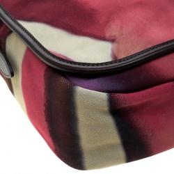 Chanel Muliticolor Nubuck Leather CC Flower Power Messenger Bag